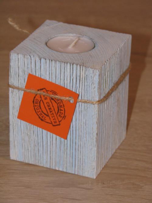 1 dílný svícen Provance modrý 10 cm - 1 ks