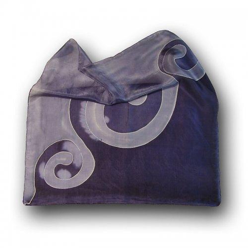 Hedvábný šátek modrý