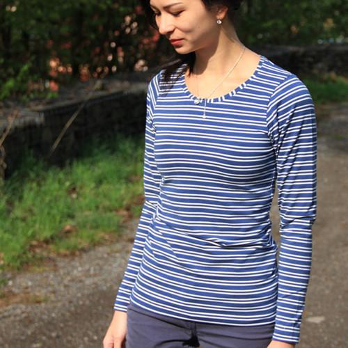 Střih: dámské tričko s dlouhým rukávem (32 - 62)