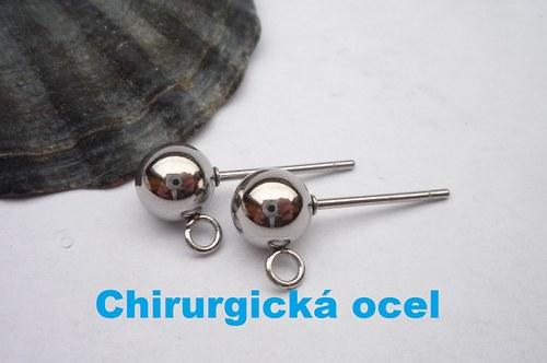 Puzeta s kuličkou z chirurgické oceli - 1 pár
