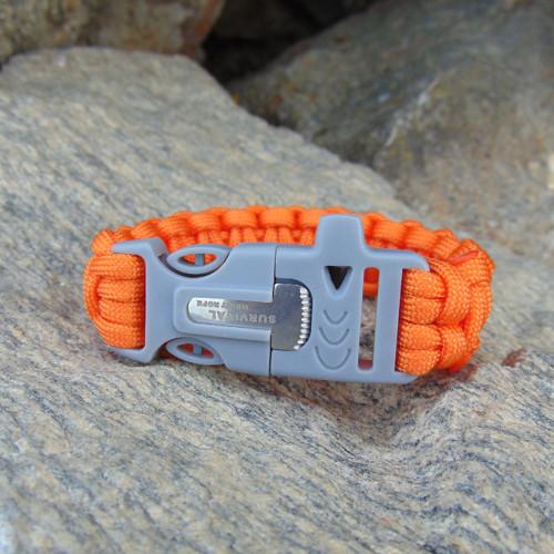 Survival náramek - oranžový
