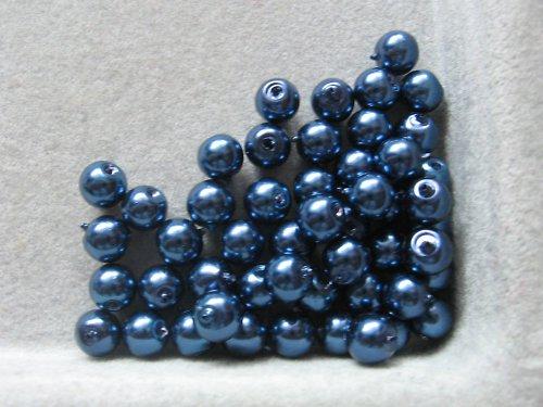 Vosková perla - tmavě modrá 5 mm / 20 ks