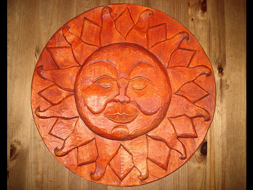 Reliéf slunce