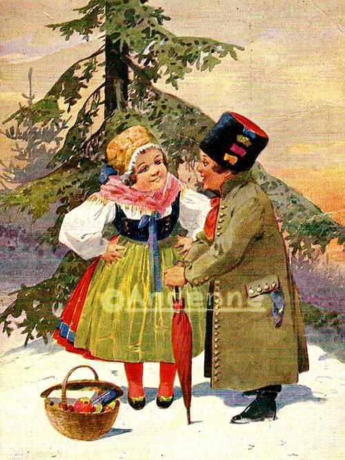 Vintage motiv Vánoce