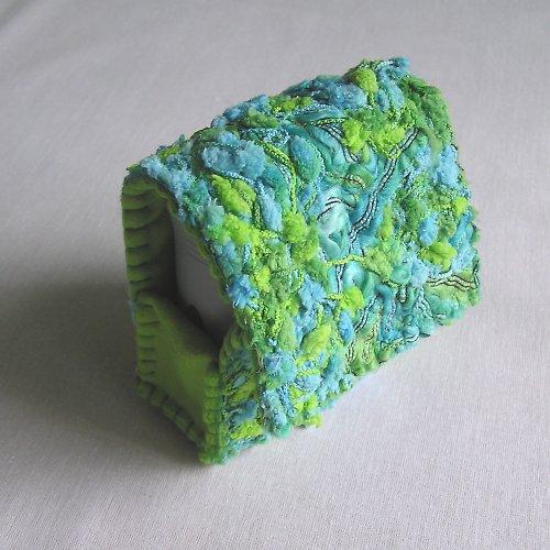 Pouzdro na razítko zelenotyrkysové