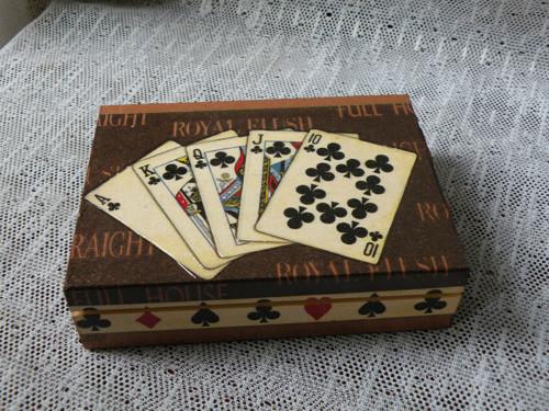 Krabička na karty hnědá