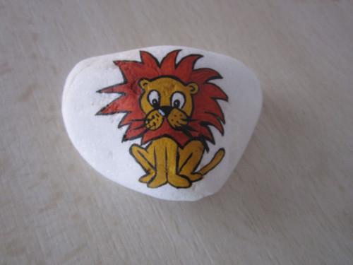 Malovaný lev