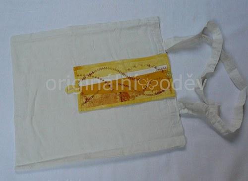 nákupní taška sbalená v patchworku-14 - ZLEVNĚNO