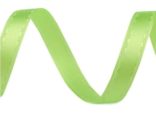 Atlasová stuha šíře 13mm (2m) - zelená