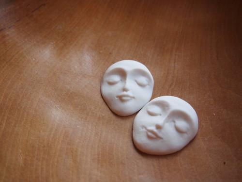Porcelánová hlavička - úzká - režná