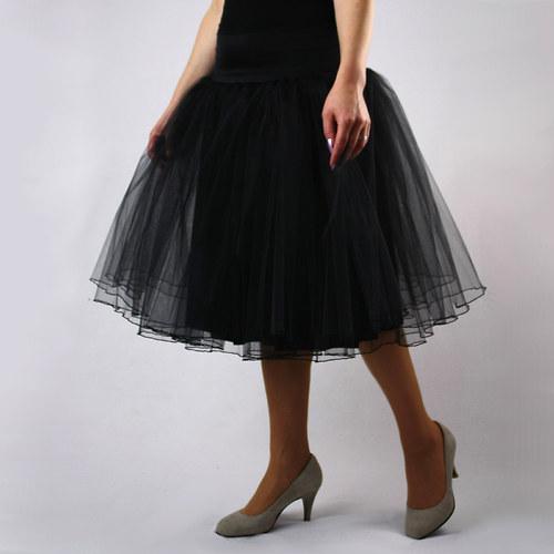 Dlouhá černá tylová sukně