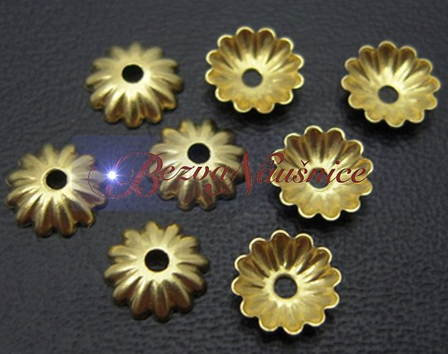 Kaplík - barva zlatá 50ks