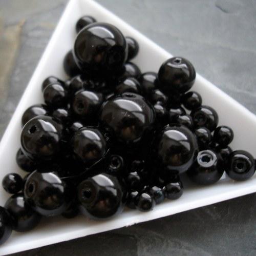 Mix voskovaných kuliček - 30g - černý