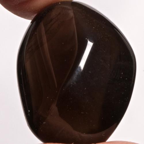 Výběrový obsidián kouřový - apačské slzy, 30 mm