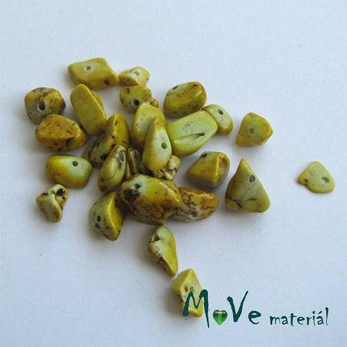 Kamenné zlomky vrtané žluté, 7g