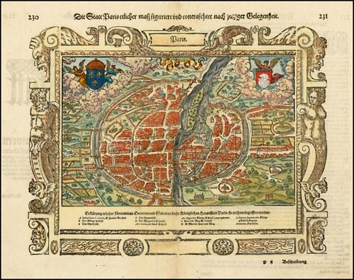 Mapa Paříž I