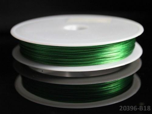 20396-B18-5 Bižuterní drát 0.38mm ZELENÝ, bal. 5m