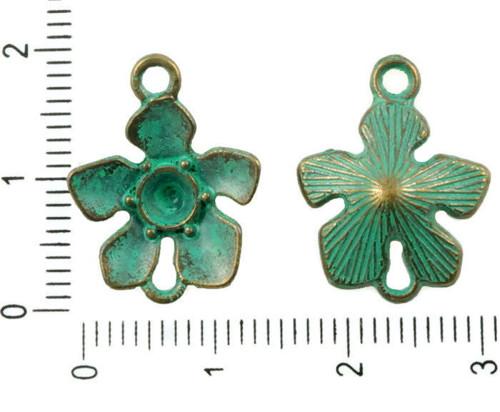 14pcs Antické Bronzové Tón Tyrkysová Zelená Patina