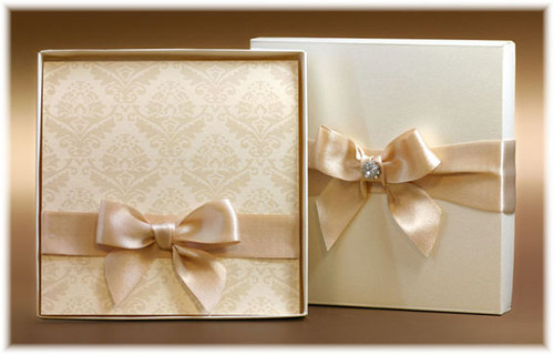 Svatební oznámení v krabičce