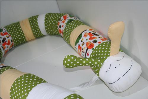 Textilní šnek - mantinel, hnízdečko