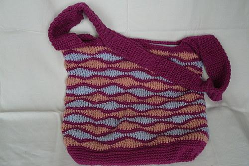 Háčkovaná taška na rameno a na zip