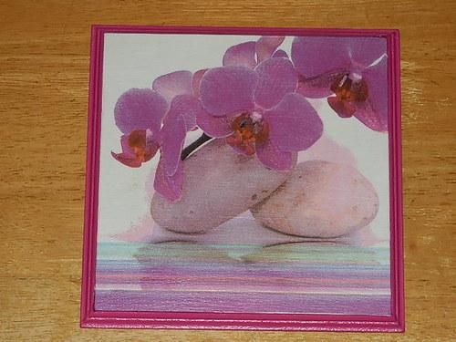 Obrázek na MDF destičce Orchidej VIII