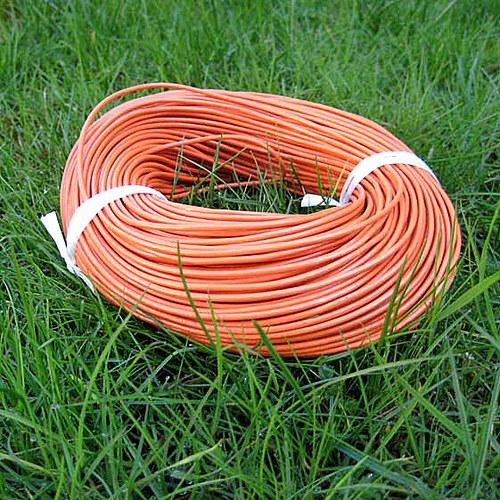 Kulatá Kůže 2mm - Oranžová