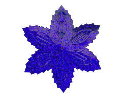 Flitry - modrá vánoční hvězda (1433-184) 50g