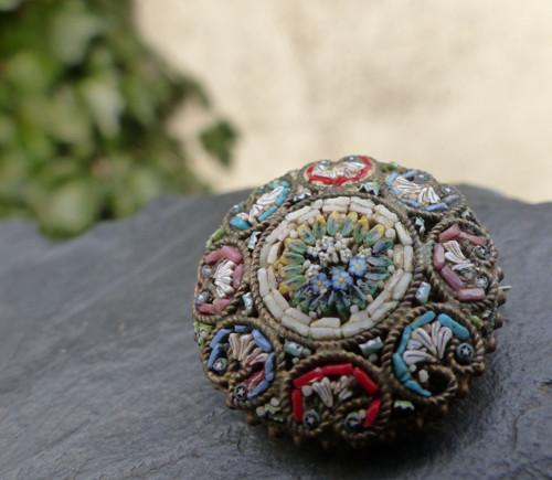 Zahrada v Římě...brož s millefiory mozaikou