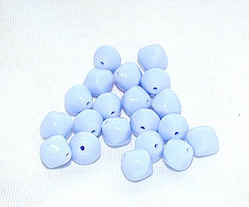 Korálky tvarovky 7x9 mm sv.modré