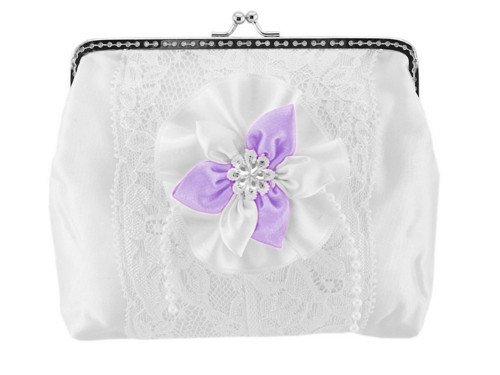 Dámská kabelka bílá, svatební kabelka E4
