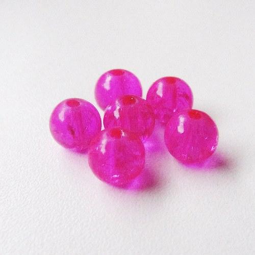 Praskačky 8 mm - tmavě růžové - 20 ks