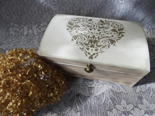 Svatební,dárková truhla,šperkovnice velká