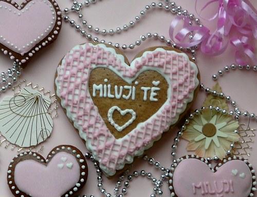 """Valentinské srdce s nápisem \""""Miluji tě\"""""""
