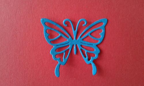 Výřez motýl blue