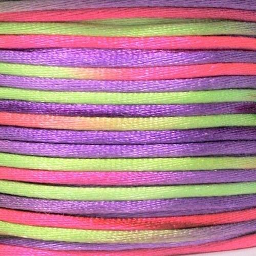 Saténová šňůrka vícebarevná 2 mm / VIII.
