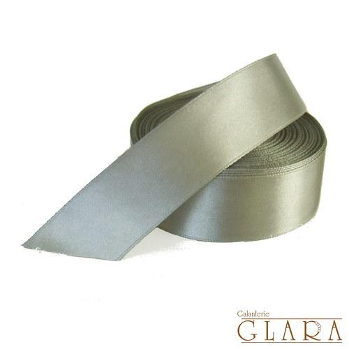 Stuha saténová / 30 mm / šedá č. 3176 / 2 m