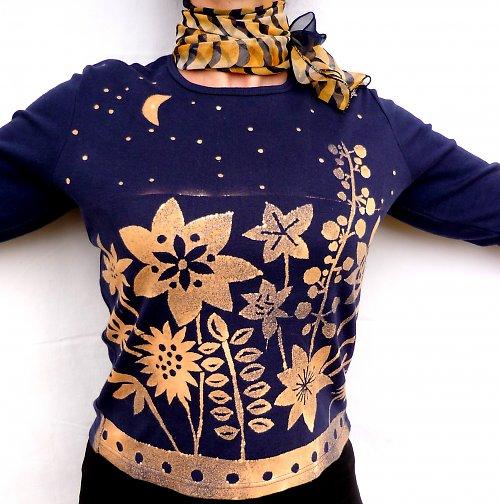 CASSIOPEIA - tričko s rozkvetlou loukou