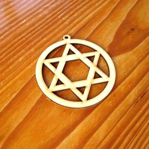 Dřevěný Maxi Hexagram
