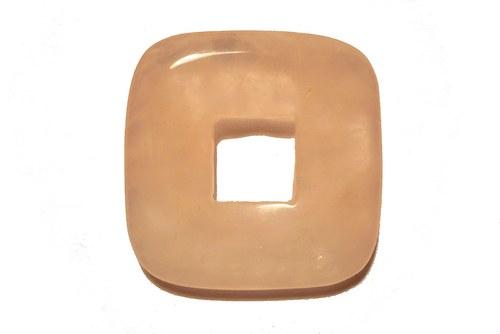 Donut 3,5 x 3,5 cm - růženín, č.18