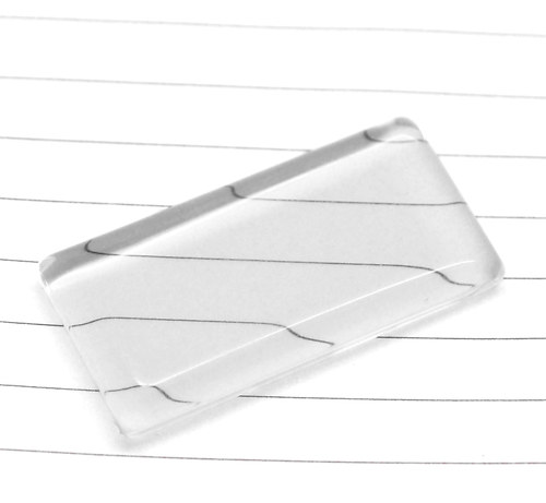 KAB4004, KABOŠON 4.8x2.4cm Sklo ČÍRY /1ks
