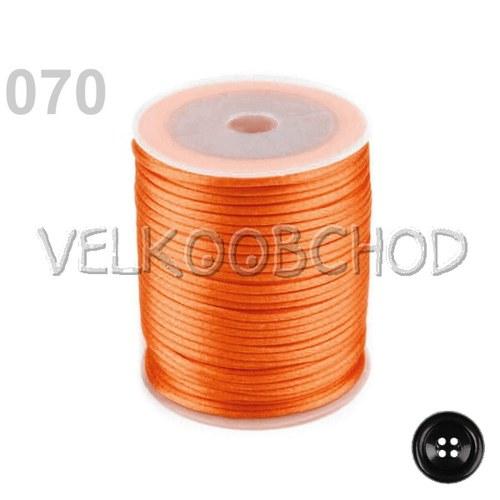 Saténová šňůra pr.2mm (10m) - zlatá oranžová