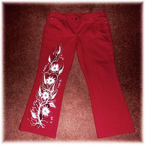 Kalhoty malované