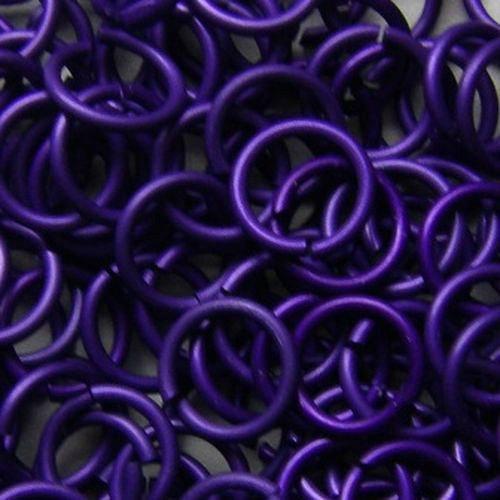 kroužky eloxovaný hliník 4/1,2 mm purple 100ks