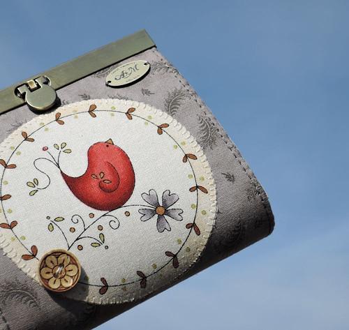 Rámečková peněženka - Slavík a růže