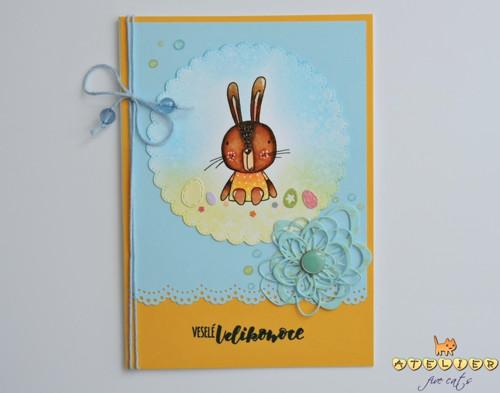 velikonoční přáníčko (velké) - pan Zajíček
