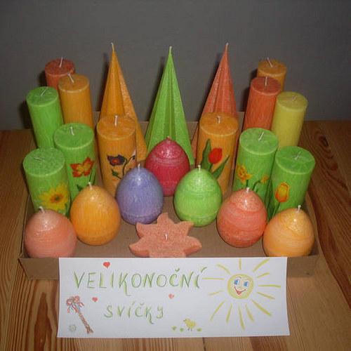 Svíčka z palmového vosku velikonoční vajíčko