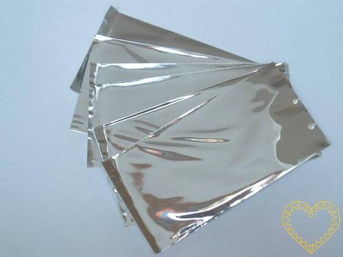Dárkový celofánový sáček stříbrný 100 kusů - 5x10