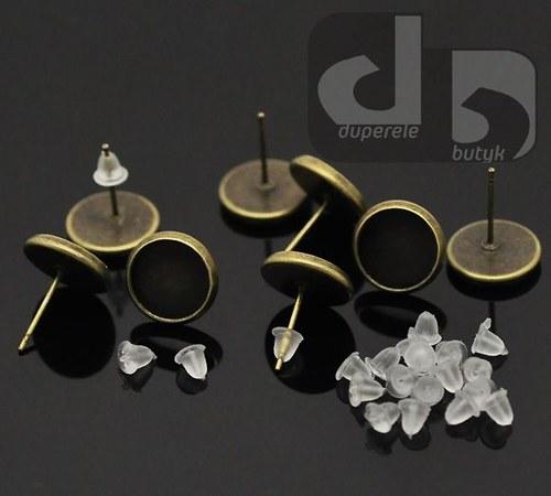 Bronzové puzety s lůžkem 10 párů