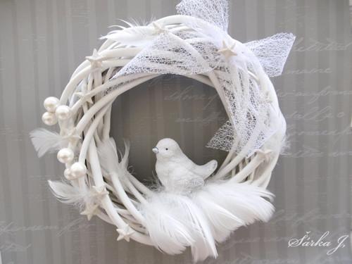 sněžný ptáček - věnec FANTASY SNOW